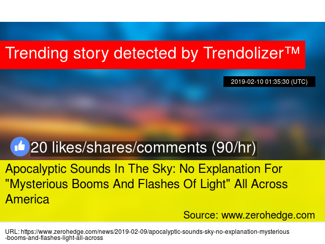 """Apocalyptic Sounds In The Sky: No Explanation For """""""