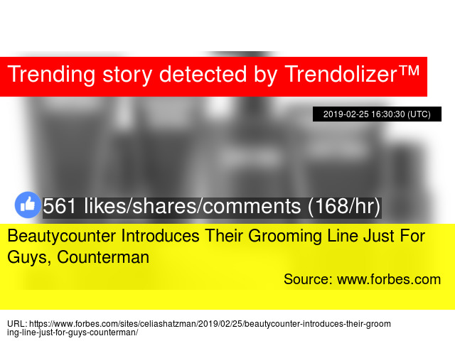 Beautycounter Introduces Their Grooming Line Just For Guys, Counterman