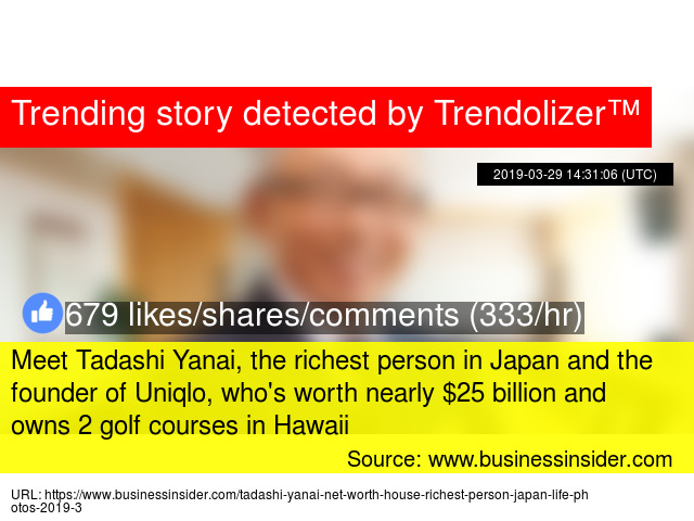 Meet Tadashi Yanai, the richest person in Japan and the