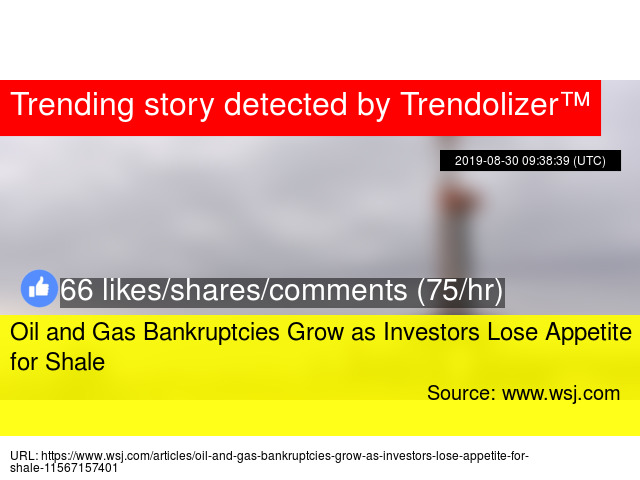 Oil and Gas Bankruptcies Grow as Investors Lose Appetite for