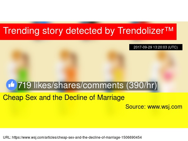 Cheap sex and the decline of marriage