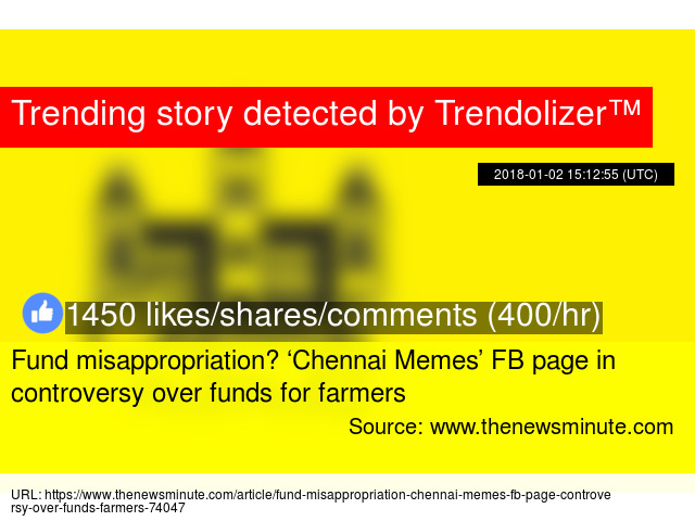 Fund misappropriation? 'Chennai Memes' FB page in